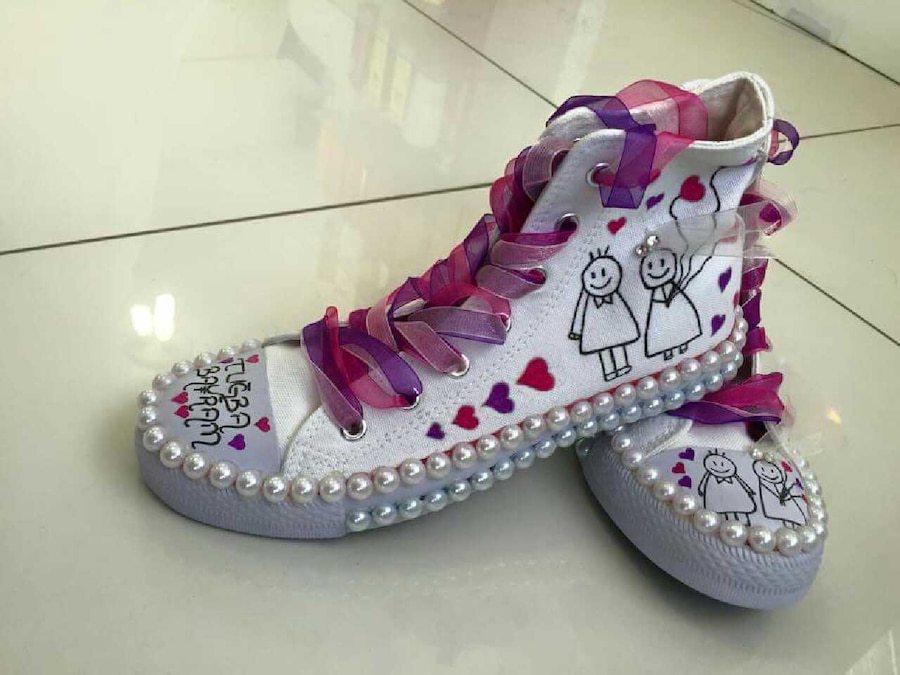 gelin converse ayakkabıları