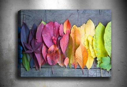 Yapraklı El Yapımı Canvas Tablo